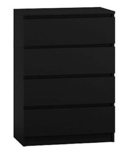 Moderna Black - 4 Drawer