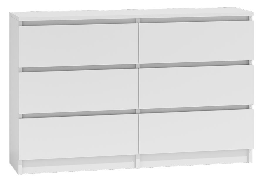 Moderna White - 6 Drawer